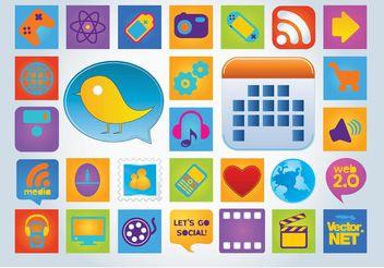 Web Badges Vectors - Free vector #141583