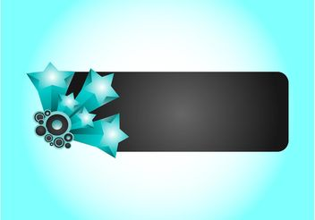 Banner With Stars - vector gratuit #141813
