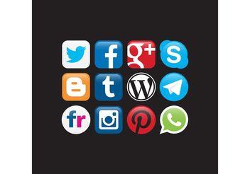 Social Networks Logo Vectors - бесплатный vector #141853
