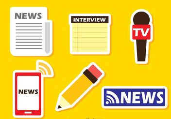 Colorful Latest News Sticker Vectors - Free vector #141873
