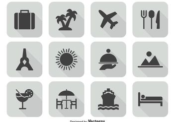 Travel Icon Set - Kostenloses vector #141933