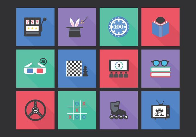 Free Flat Entertainment Vector Icon Set - vector #141943 gratis