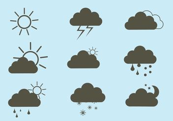 Free Vector Weather Icon Set - vector gratuit #141993