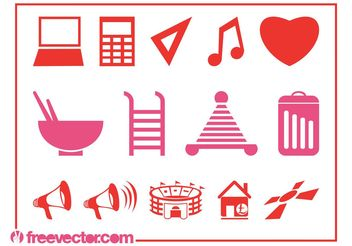 Symbols And Icons - Free vector #142003