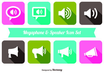 Trendy Megaphone & Speaker Iocn Set - Free vector #142183