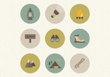 Free Flat Camping Vector Icons - Free vector #142243
