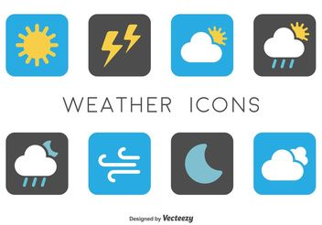 Minimal Weather Icons - vector gratuit #142323
