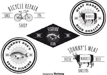Vintage Logo Templates - Free vector #142393