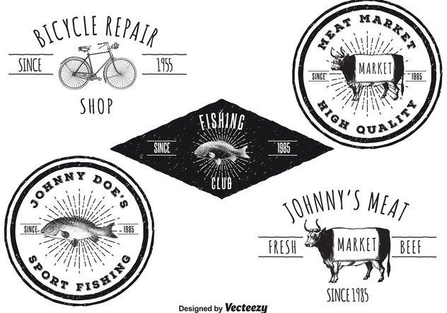 Vintage Logo Templates - vector gratuit #142393