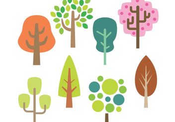 Stylized Tree Vectors - бесплатный vector #142503