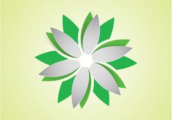 Vector Flower Logo - Free vector #142613