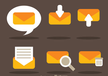 Flat SMS Vector Icons - Free vector #142763