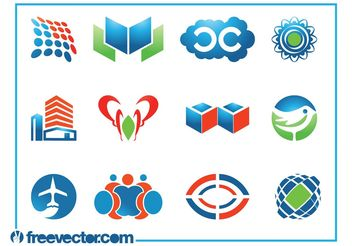 Logo Templates Set - Free vector #142803
