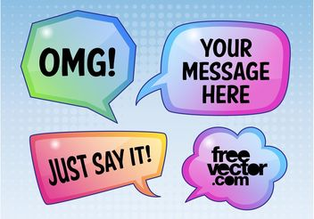 Dialogue Bubbles - Free vector #142823