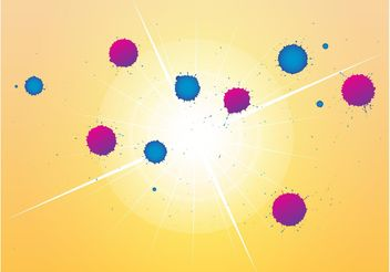 Colorful Blobs Design - vector gratuit #142873