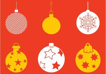 Christmas Baubles Set - Free vector #143043