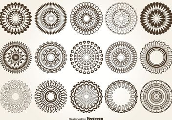 Decorative Vector Circles - бесплатный vector #143063