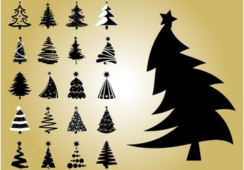 Christmas Tree Vectors - vector gratuit #143263