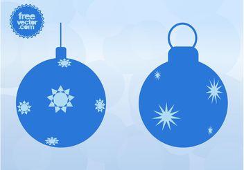 Christmas Vector Balls - vector gratuit #143283
