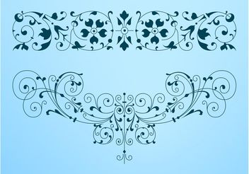 Decorative Antique Swirls - Free vector #143293