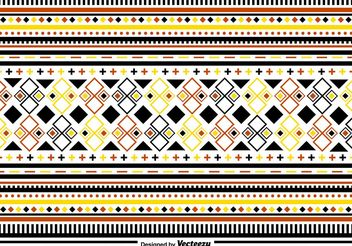 Stylish Folk Pattern Ornaments - Kostenloses vector #143443