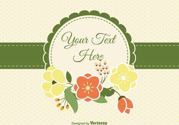 Blank Floral Card - Free vector #143453
