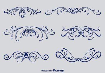 Calligraphic Victorian Ornaments - Kostenloses vector #143463