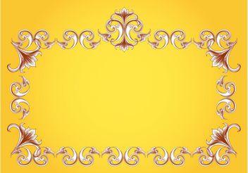 Flourishes Frame Vector - Free vector #143473