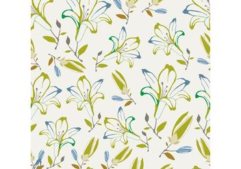 Seamless Floral Pattern - vector #143523 gratis