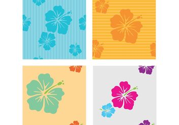 Hawaiian Flower Vector Patterns - Free vector #143543