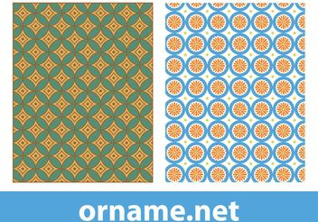 Egyptian Vector Patterns - Free vector #143573