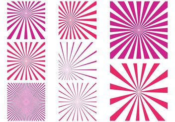 Pink Starburst Patterns - Free vector #143603