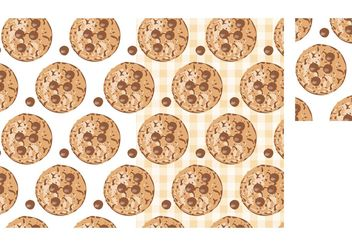 Free Vector Chocolate Chip Cookies Seamless Pattern - Free vector #143623