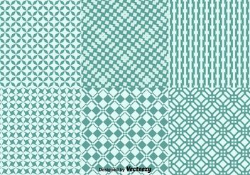 Geometric Green Background Patterns - Free vector #143643