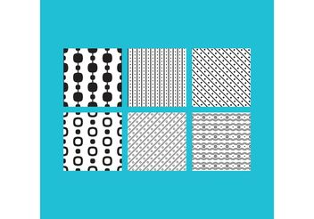 Simple B&W Patterns 2 - Free vector #143663