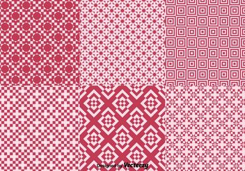 Geometric Red Background Patterns - Free vector #143703
