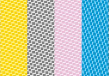 Colorful Patterns With Cubes - Free vector #143793