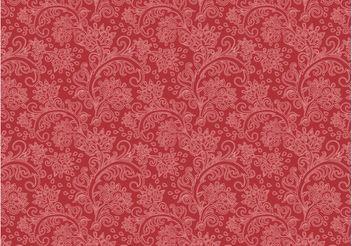 Vintage Floral Pattern Vector - Free vector #143883