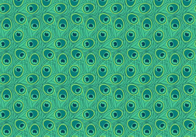 Seamless Peacock Pattern Vector - vector gratuit(e) #143903