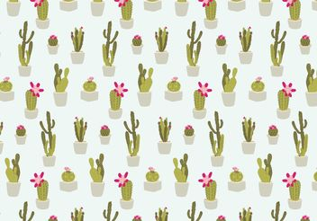 Seamless Cactus Pattern - Free vector #143913