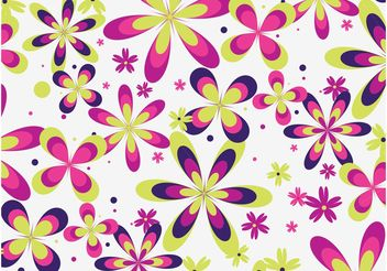 Cute Floral Pattern Vector - Free vector #143933