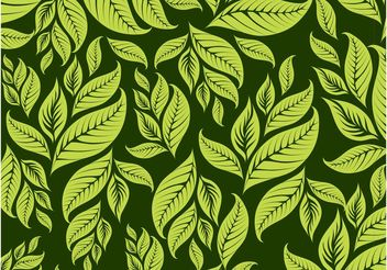 Leaves Pattern - Free vector #143943