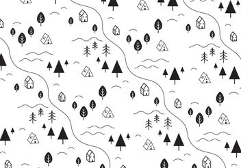 Simple Landscape Vector Background - Free vector #144083