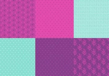 Purple and Mint Pattern Vector set - Free vector #144143