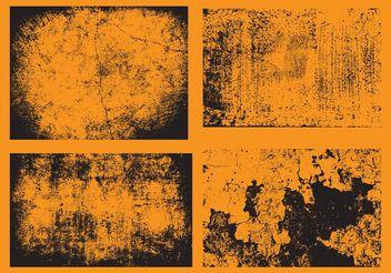 Grunge Wall Vectors - Free vector #144153