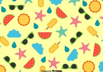 Beach Vector Patterns - Free vector #144163