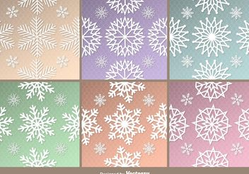 Frozen Snowflakes Patterns - vector gratuit #144293