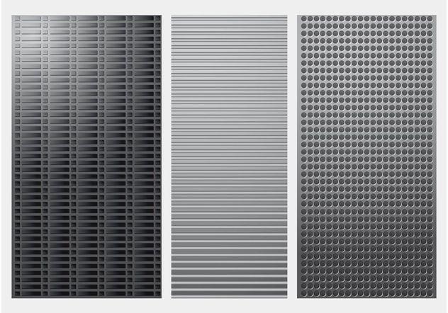 Metal Backgrounds - Free vector #144383