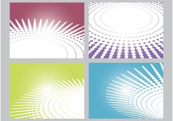 Circular Patterns - Free vector #144393
