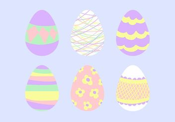 Easter Egg Vector Design Set - Free vector #144443